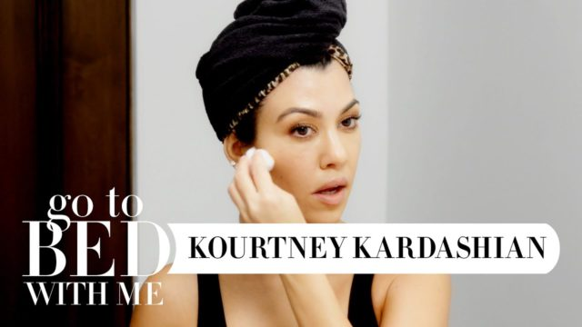Kourtney Kardashian's Skincare Routine (Go To Bed With Me) / by Harper's BAZAAR